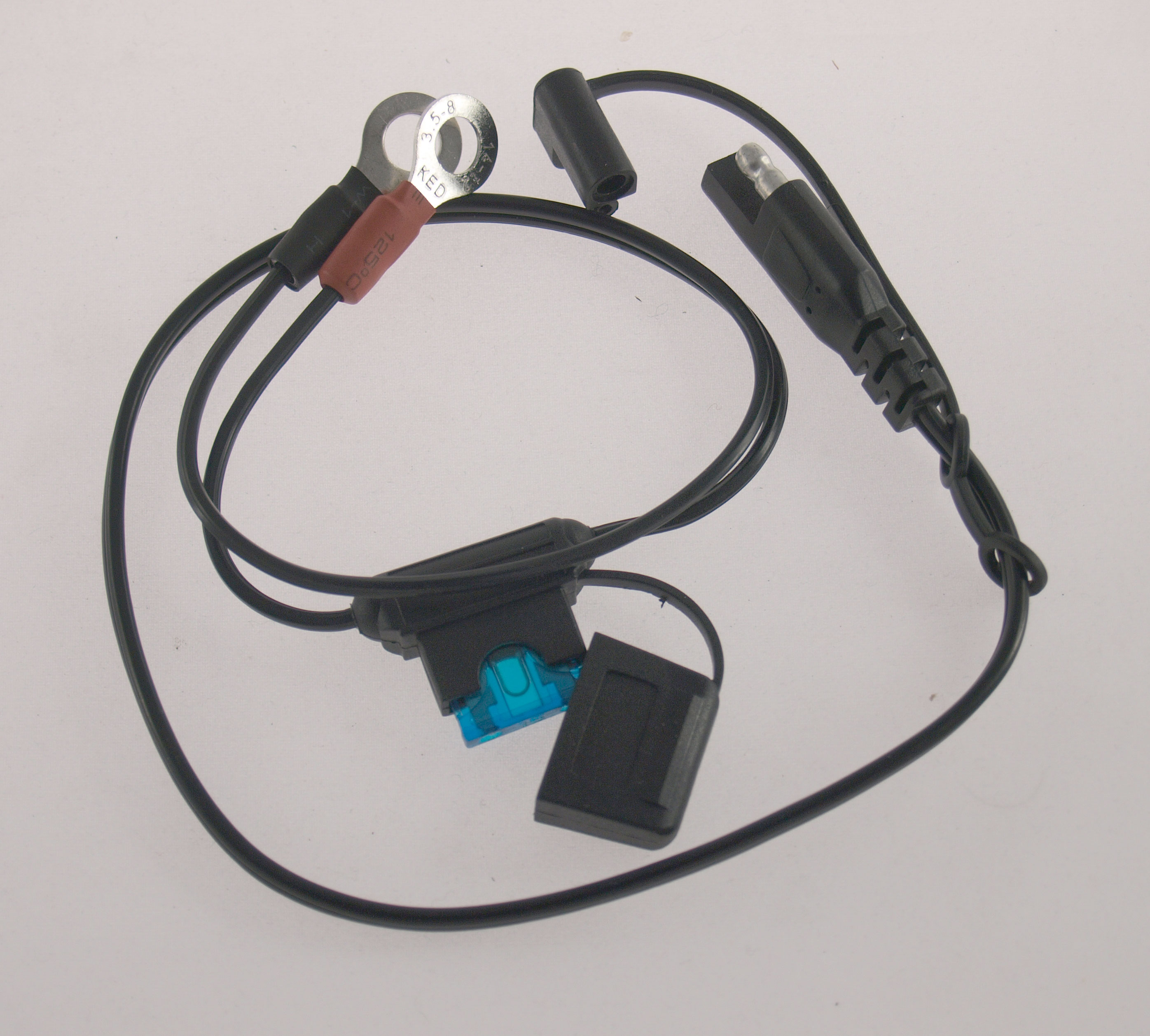 Ring terminals to SAE plug lead for DYNAPLUG Mini Pro Inflator